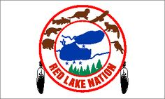 Red Lake Ojibwe - Minnesota  One of the northernmost bands and reservations of the Chippewa or Anishinabe people found in the United States, the 565,000 acres belonging to the Red Lake Ojibwe is found in north central Minnesota. The center piece of the reservation is the large Red Lake for which the reservation is named. That lake, actually two - Upper Red lake and, naturally, Lower Red Lake connected by a very narrow mouth - is also the center piece of the seal of the Red Lake Ojibwa