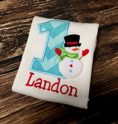 Let it snow! this shirt can be made for boys or girls! If you prefer a different color dont hesitate to ask!    Sizes Onsies 6-12 Month  12-18 Month