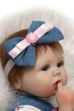 "Lifelike Reborn Baby Doll 18"" Soft Silicone Realistic Real Life Christmas Gift"