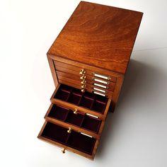 911767b783 Monetiere in legno per monete antiche, oro, argento. Coin Cabinet, 8 drawer