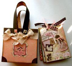 Bo Bunny Little Miss mini album and tote