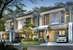 Ideas For Apartment Architecture Concept Ideas Row House Design, Duplex Design, Modern House Design, Apartment Design, Concept Architecture, Modern Architecture, Modern Tropical House, Duplex House, Facade Design