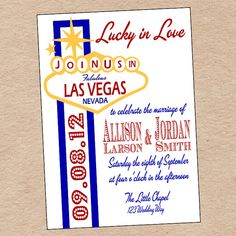 Las Vegas Wedding Invitation or Save the Date by DecorableDesigns, $15.00