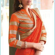 #HighNeck #blouse #blousedesign #saree http://www.dothefashion.com/