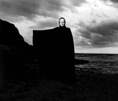 Ingmar Bergman's masterpiece The Seventh Seal is one of my favourite films. The film questions the legitimacy of God and His passivity when the Black Plague ravages Middle Age Sweden. In the film… Bergman Movies, Bergman Film, Ingmar Bergman, Max Von Sydow, Film Analysis, Jean Paul Sartre, Monochrome, The Seventh Seal, The Criterion Collection