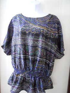 The Limited Women's Mulitcolor Pasiley Blouse Top Size (M) #TheLimited #KnitTop #Casual