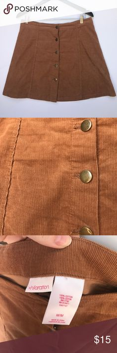 Corduroy Brown Button Down Skirt super cute button down skirt - really good condition - size medium Xhilaration Skirts Mini
