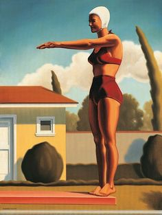 """""""Swim Party #3"""" by Kenton Nelson.   Image courtesy of the artist."""