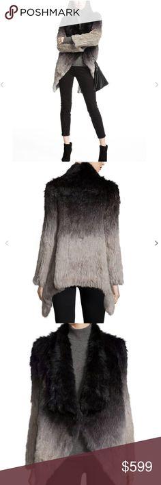 Love Token Ombré Rabbit Fur Jacket Love Token ombre dyed 100% rabbit fur jacket. Flyaway open front. Long sleeves. Relaxed silhouette. Asymmetric hem. Cotton inner mesh. Professional fur clean. NO TRADES. Open to offers. NO LOWBALL OFFERS. Love Token Jackets & Coats