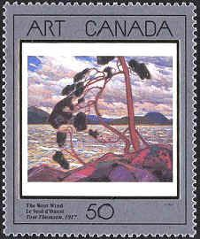 Canada 1990. Group of Seven. Realism/Naturalism. Tom Thomson. The West Wind.