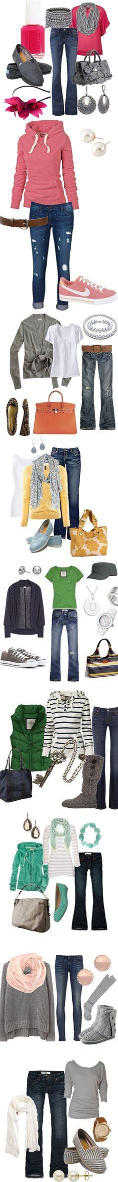 26 Fall Fashions - wonderful sets put together ~ Love em!