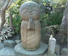 Jizo is one of the most loved of all Japanese divinities. His statues are a common sight, especially by roadsides and in graveyards. Traditionally, he is seen as the guardian of children, particularly children who died before their parents.