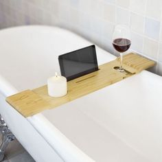 Umbra Aquala Bathtub Caddy Rack - Natural | Bathroom | Pinterest ...