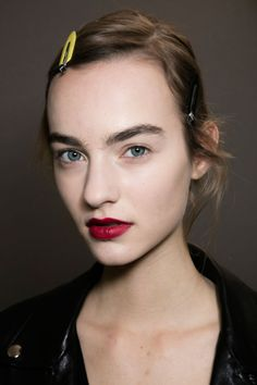 Maartje Verhoef @ Christian Dior Spring 2016 Couture Backstage