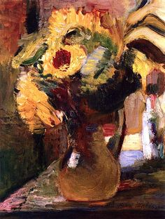 Henri Matisse - Bouquet of Sunflowers, 1898
