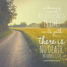 Proverbs - way of righteousness. Bible Verses About Death, Encouraging Bible Verses, Bible Verse Art, Bible Encouragement, Favorite Bible Verses, Bible Verses Quotes, Bible Scriptures, Proverbs 12, Inspirational Verses