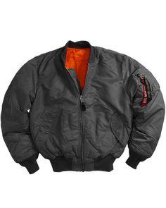 MA-1 Flight Jacket by Alpha Industries- Gunmetal Grey