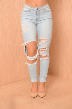Beach Bum Jeans - Light Blue | Fashion Nova