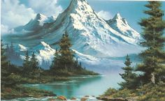 Bob Ross Mountian: own an original Bob Ross painting. I loved that guy. Used to paint to him everyday.