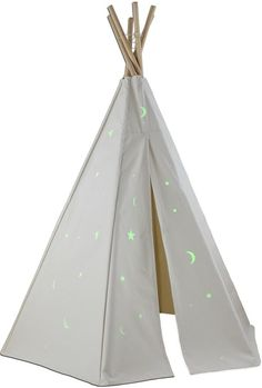 The Well Appointed House Dexton Great Plains Teepee with Glow in the Dark Stars Set for Kids