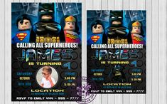 Lego batman invitations, lego batman birthday party, lego batman birthday,  lego batman birthday party invites, lego invitations printable by BestBirthdayParty, $6.99 EUR Lego Batman Invitations, Lego Birthday Invitations, Invites, Invitations Kids, Birthday Cakes, Custom Invitations, Lego Batman Birthday, Lego Batman Party, Superhero Birthday Party