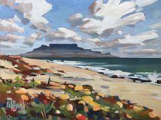 Shop Carla Bosch Artist on Fine Art Portfolio African Artwork, African Art Paintings, Africa Painting, Artist Painting, Table Mountain, Mountain Art, Abstract Landscape, Landscape Paintings, South Africa Art