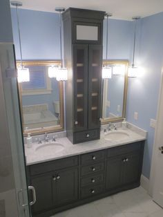 Custom designed and crafted, solid wood Bathroom Cabinets and Vanities in Jacksonville, Florida
