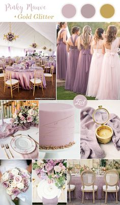 pinky mauve purple and glitter gold wedding color combos pinky lila lila und Glittergoldhochzeits-Farbkombinationen Wedding Colors Purple And Gold Wedding, Gold Wedding Colors, Mauve Wedding, Gold Wedding Theme, Summer Wedding Colors, Spring Wedding, Khaki Wedding, Purple Wedding Invitations, Purple Gold