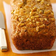This will be you new go-to Banana Bread recipe! More of our best banana bread recipes: http://www.bhg.com/recipes/bread/our-best-banana-bread-recipes/?socsrc=bhgpin082213bananabread=5