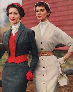 Vintage Glamour. Tailored. Put-together. Accessorized. Feminine. Love it!