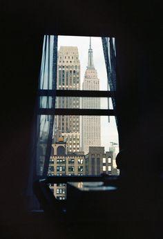 Empire state building trough the window, Manhattan, NYC, New York New York City, Ville New York, A New York Minute, Empire State Of Mind, Window View, Rear Window, City That Never Sleeps, Concrete Jungle, City Living