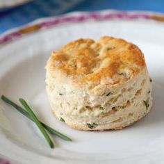 These Chive and Goat Cheese Scones are studded with delicate fresh chives and creamy chèvre. Chive and Goat Cheese Scones Cheese And Chive Scones, Goat Cheese, Tea Recipes, Party Recipes, Scone Recipes, Cheese Recipes, Appetizer Recipes, Breakfast Recipes, Appetizers
