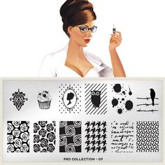 MoYou-London Nail Art Image Plate Pro XL Collection - 07 -- Visit the image link more details.