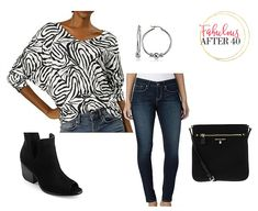 Budget Friendly Animal Print Tops from Walmart - zebra print top, jeans, booties Leopard Shirt, Professional Wear, Simple Shirts, Fashion Over 40, Business Outfits, Look Chic, Zebra Print, Cute Tops, Shirt Outfit