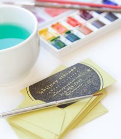 "business card stamp -  ""perfect for branding several different stationery pieces - business cards, letterheads, notecards, etc etc! You can also mix things up with different ink and paper colors."""