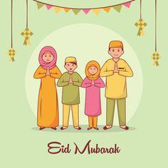 Discover thousands of Premium vectors available in AI and EPS formats Eid Card Designs, Wallpaper Ramadhan, Ramadan Photos, Ied Mubarak, Eid Mubarak Vector, Ramadan Cards, Hijab Cartoon, Happy Eid, Vector Photo