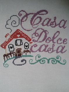 casa dolce casa Grand Isle, Peppa, Cross Stitch, Love You, Dolce, Gifts, Monogram Tote, Creativity, Craft