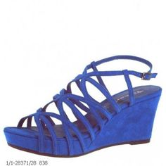 Tamaris Royal Blue Wedge Sandals