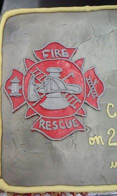 Firefighter Retirement cake: firefighter emblem