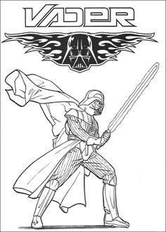star wars darth vader coloring page