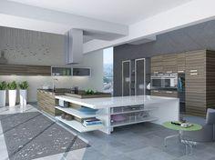 Kitchen, Collection Elegant Smart Kitchen Designs : Ideas Modern Smart Kitchen Designs ~ dartbits.com