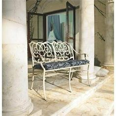 Telescope Casual Bella Lucca Cast Two Seat Sette - 7750 by Telescope Casual. $876.60. This is the Bella Lucca cast aluminum patio two-seat settee (7750) with seat cushion by Telescope Casual. The Telescope Casual Bella Lucca cast aluminum furniture collection provides a distinct style with an upscale cast aluminum frame.