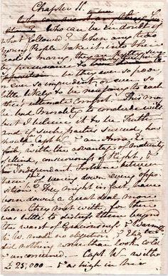 Jane Austen's original manuscript of Persuasion
