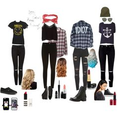 5sos by moseekee on Polyvore featuring Band of Outsiders, Humble Chic, MANGO, Paige Denim, Forever New, Frye, Converse, Vans, Ray-Ban and Johnny Loves Rosie
