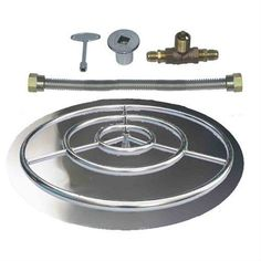 Stainless Steel Burner Pan with Ring Kits for Natural Gas #Dreffco http://stores.ebay.com/baysidemart/Fire-Pit-Burners-/