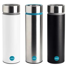 The Grayl is a portable water-filtration cup that ensures the water you drink will be pure. It features G3+, three filtering technologies that remove protozoa, bacteria, viruses, chemicals, & heavy metals. It's also 100% BPA-free. $70