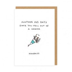 These simple greeting cards convey exactly what you want to say on someones special occasion. They may not be as nice as traditional greeting cards, but Paul Ghandi, from Ohh Deer, definitely does a good job of translating what people actually want to say on birthdays.Moreover, they come with some neat little illustrations as well. I know where i'm shopping for birthday cards this year. To check out the full collection and purchase the cards, check out the store.10,000 people are receiving…