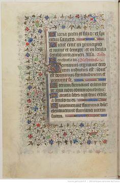 HORAE Beatae Mariae Virginis. Ms. in-4 sur vélin de 171 f. (haut. 212 ; larg. 148 mm.), velours r., tr. dor. (Rel. moderne.)   Gallica