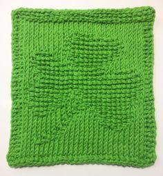 Shamrock Tunisian Crochet Dishcloth … March Finale