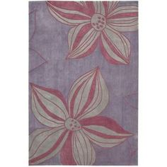 Nourison Contours Violet 5 ft. x 7 ft. 6 in. Area Rug-077158 at The Home Depot